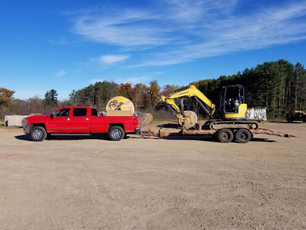 AJ Construction equipment loaded