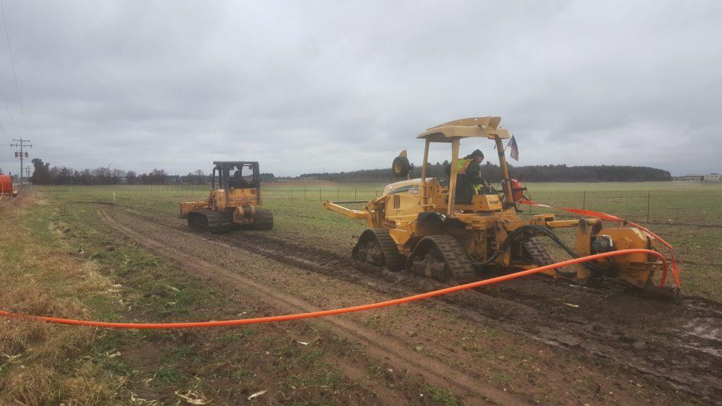 AJ Construction of WI field crew members working