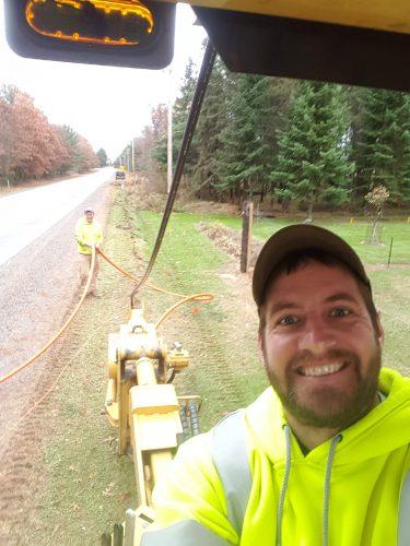 AJ Construction of WI field crew members